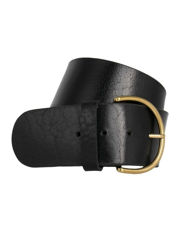 Black Leather Bellevue Belt image 3