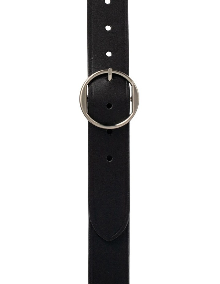 Loop Black Silver Leather Hampton Belt image 1