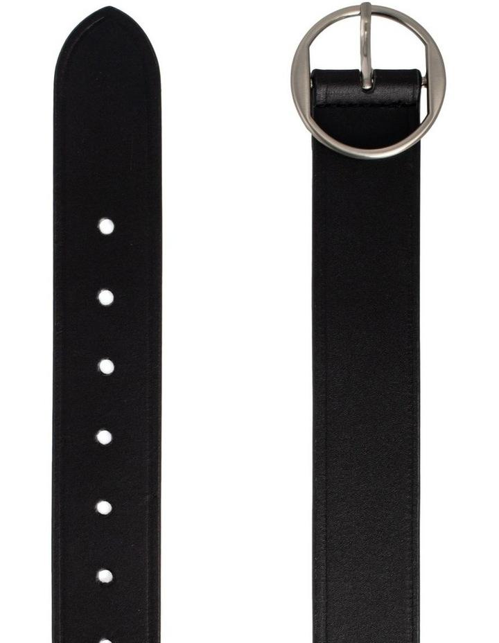 Loop Black Silver Leather Hampton Belt image 2