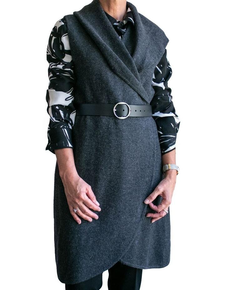 Loop Black Silver Leather Hampton Belt image 3