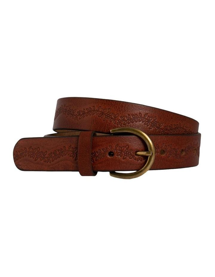 Mid Tan Leather Hillcrest Belt image 3