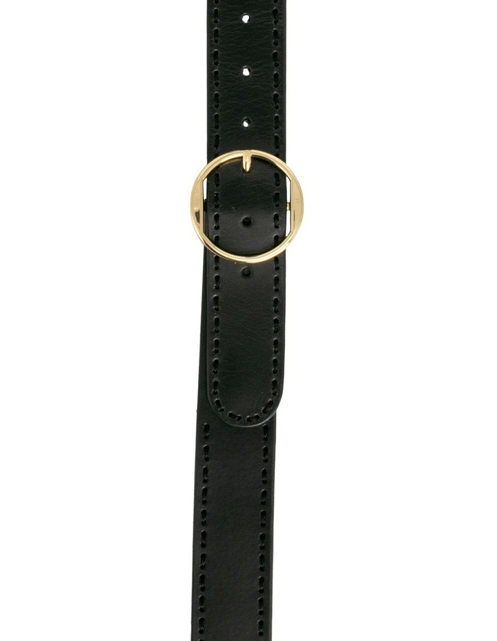 Cherry Lane Black Leather Belt image 1