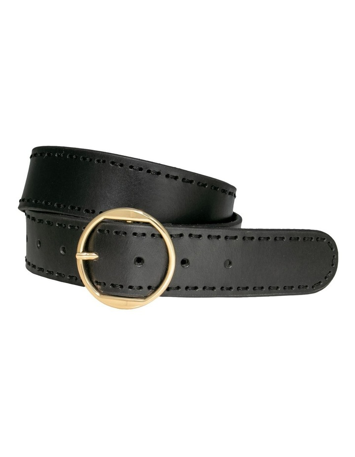 Cherry Lane Black Leather Belt image 3