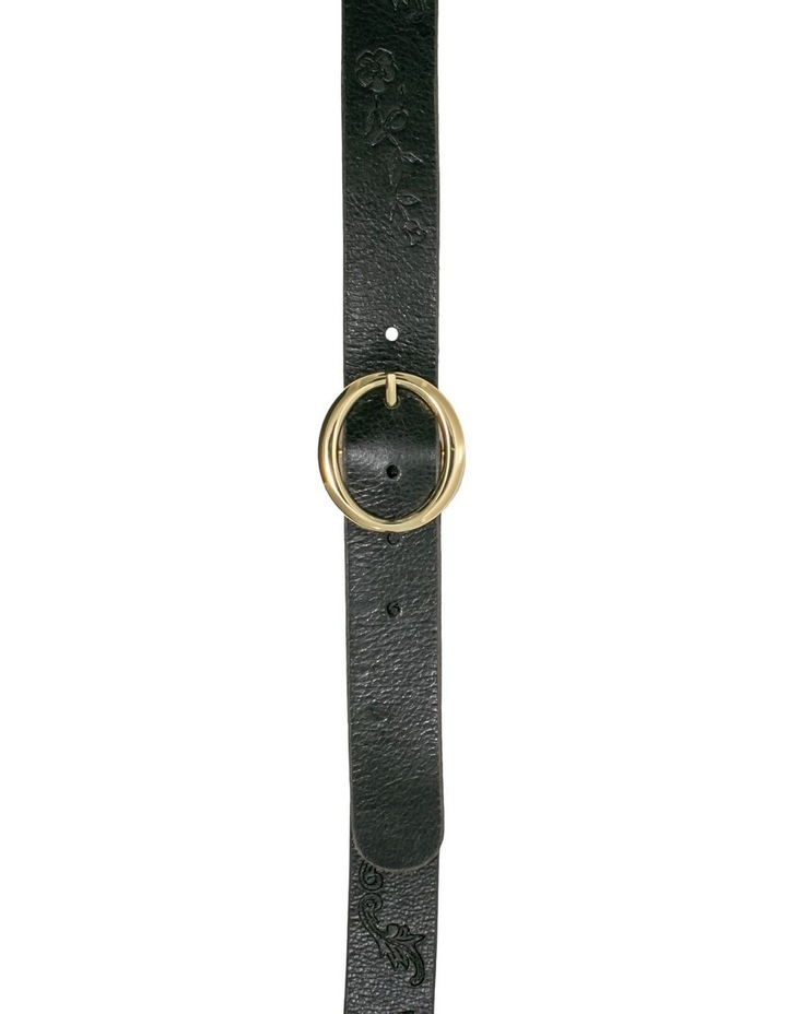 Hosier Black Leather Belt image 1