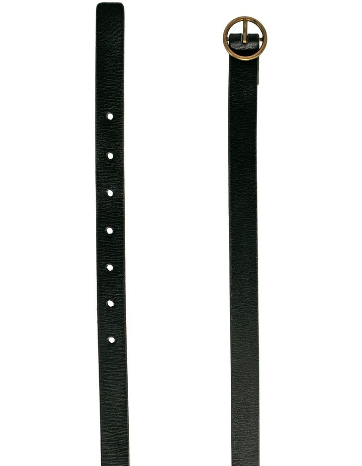 Monroe Black Leather Belt image 3