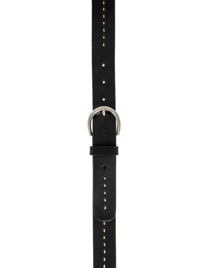 MLA10121 Fitzroy Lane Black Leather Belt image 1