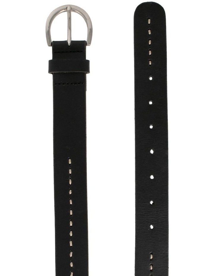 MLA10121 Fitzroy Lane Black Leather Belt image 2