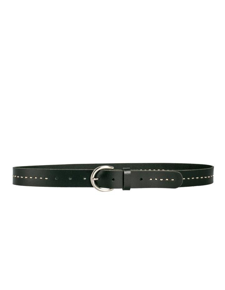MLA10121 Fitzroy Lane Black Leather Belt image 4