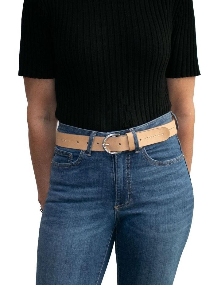 Fitzroy Lane Natural Leather Belt image 4