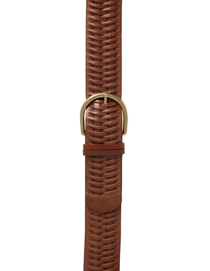 Loop Matilda Dark Tan Leather Belt image 1
