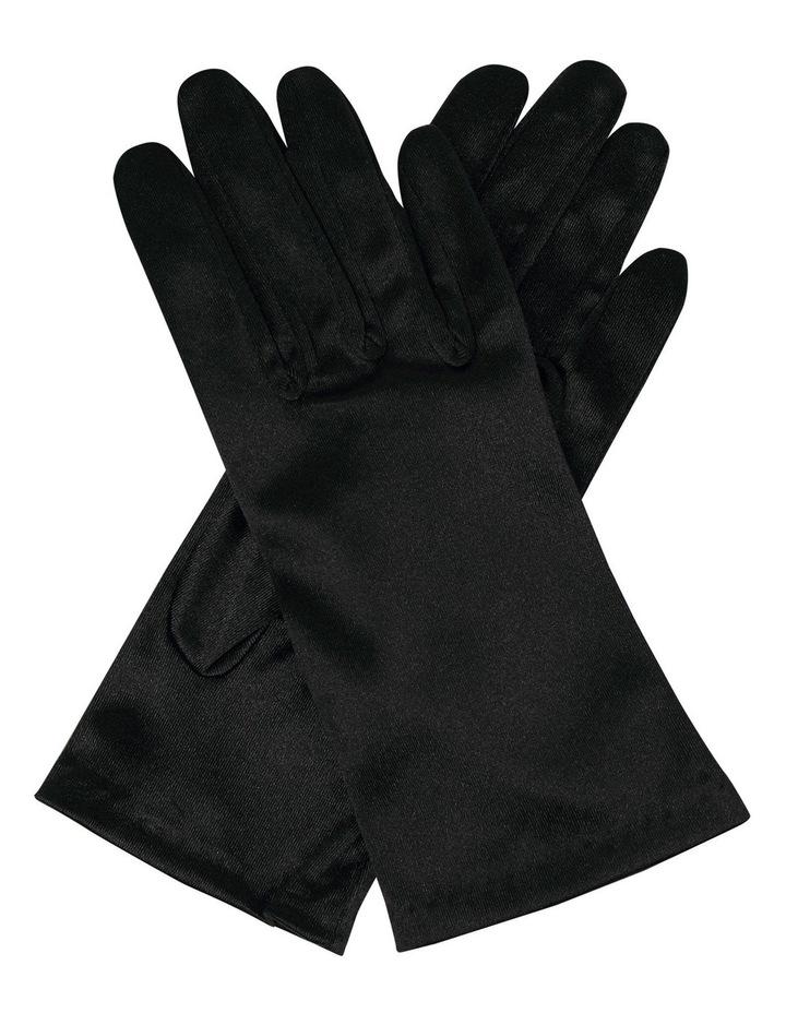 Satin Wrist Length Gloves image 1