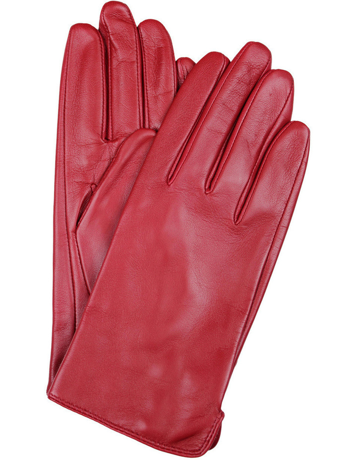 Ladies Classic Leather Gloves with Fine Fleece Lining 77-0003 image 1