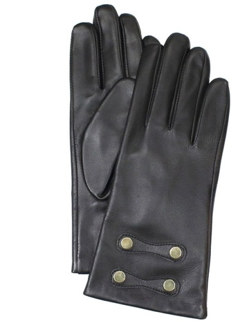 5dbb40ed3b378 Dents Leather Gloves with Gold Stud Trim