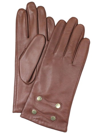 c4c1a7ea41062 Dents Leather Gloves with Gold Stud Trim