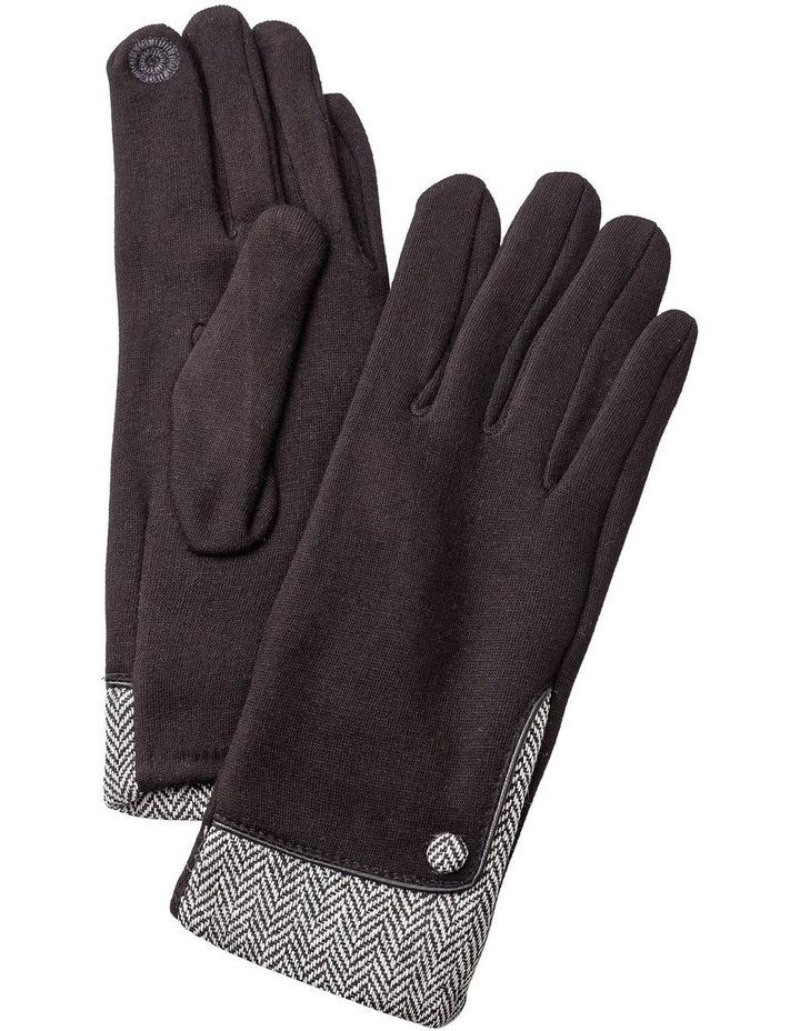GGVQ007M Ponte Chevron One Button Gloves image 1
