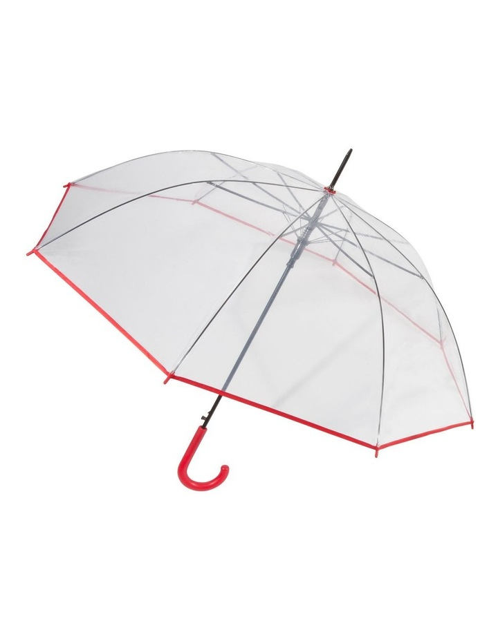 See-Through Long Auto-Open Coloured Edge And Handle Umbrella image 1