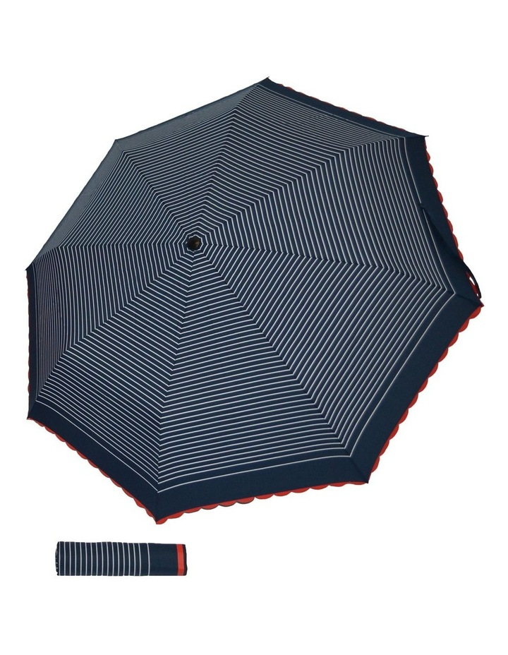 Manual Mini Maxi Black Frame And Handle Umbrella image 1
