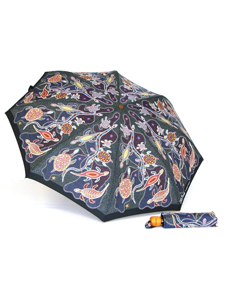 Churinga print mini umbrella image 2