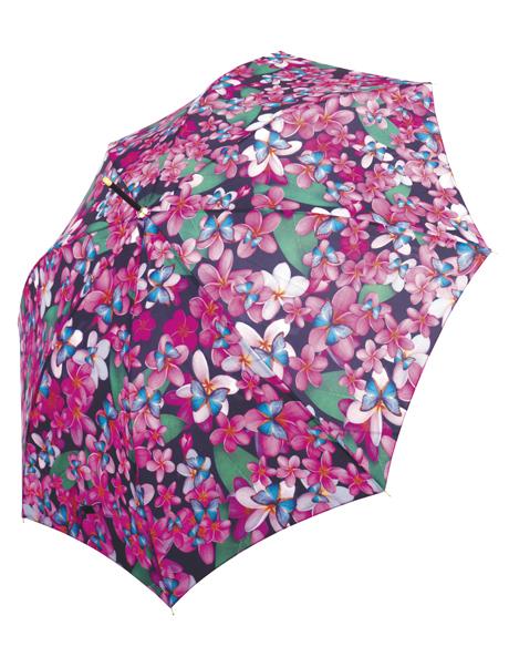 Frangipani print umbrella image 1