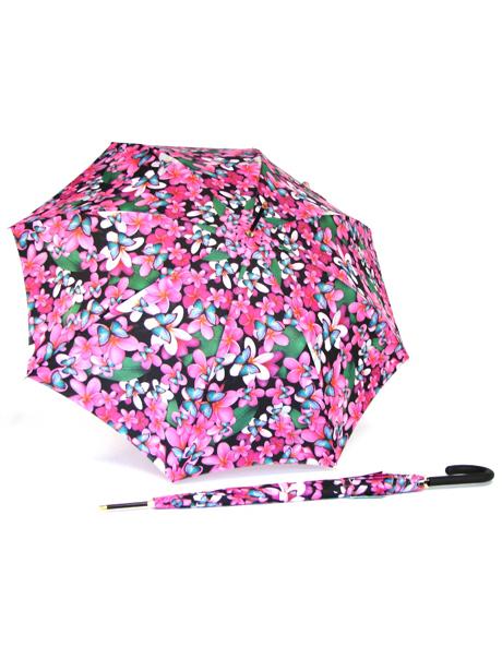 Frangipani print umbrella image 2