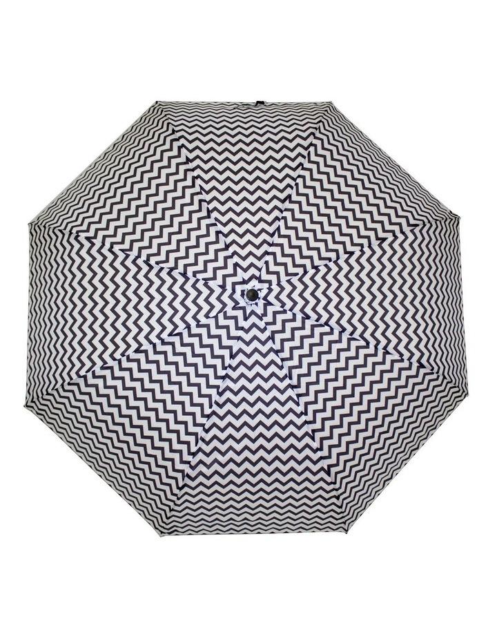Chevron Pattern Black/ White Umbrella 3551 image 1