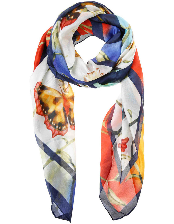 Large Butterfly Scarf With Border GLA-639M image 1