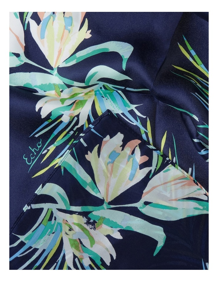 Palm Leaf Silk Scarf image 2