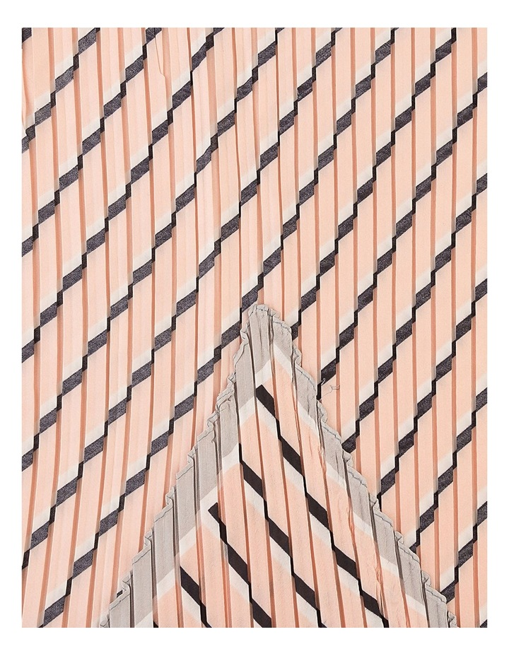Pleated Diagonal Stripe Neckerchief Scarf image 2