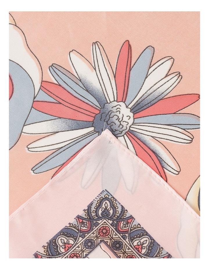 Paisley Border Floral Neckerchief Scarf image 2