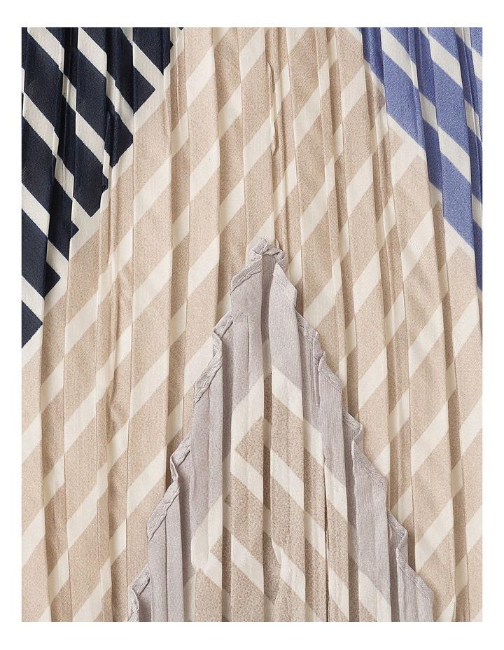 Pleated Block Stripe Neckchief Scarf image 2