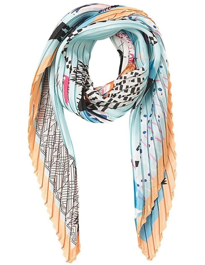 Pleated Haunted House Neckerchief Scarf image 1