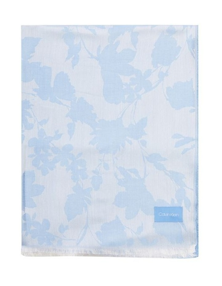 A0WS6016 Chambray Floral Pashmina Scarf image 1
