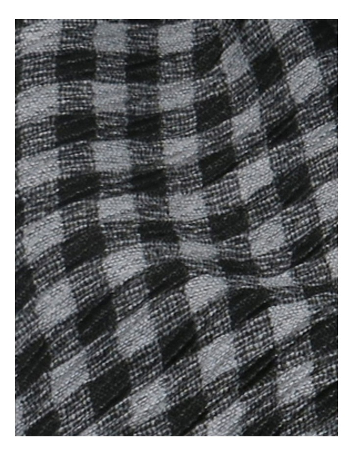 SC701 Billie Check Pleated Scarf image 2