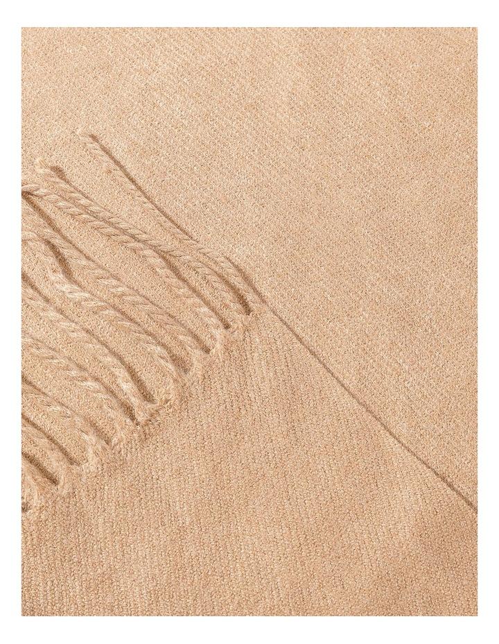 Luxury Camel Pashmina Tassel Scarf image 2