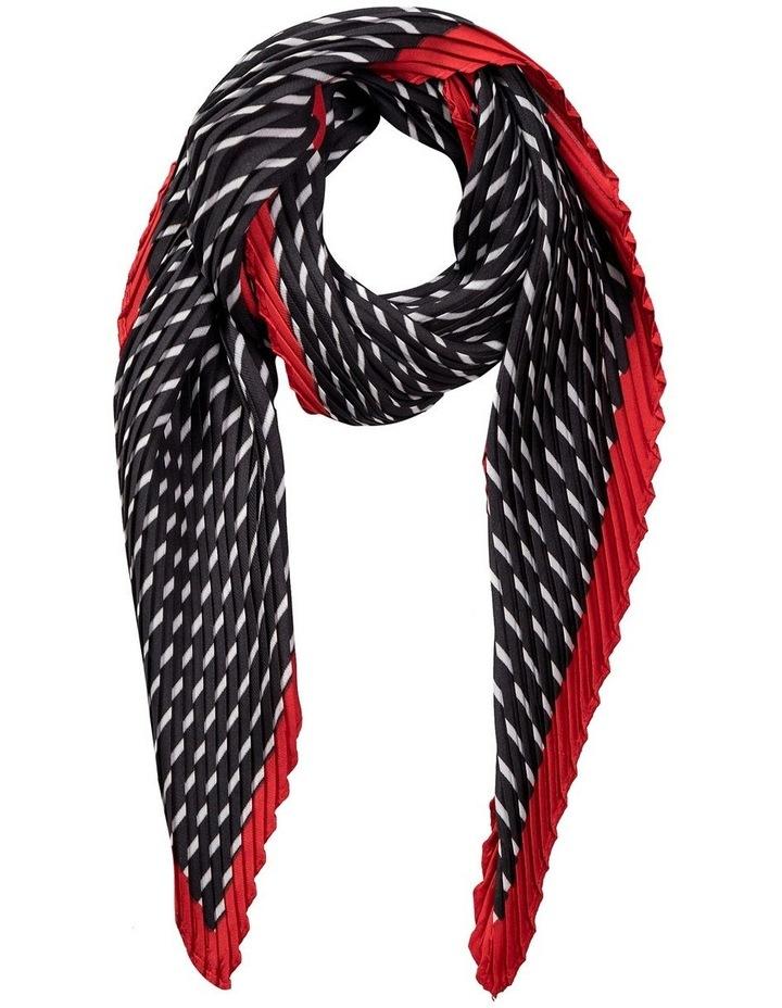 GNKR019M Pleated Stripe Neckerchief Scarf image 1