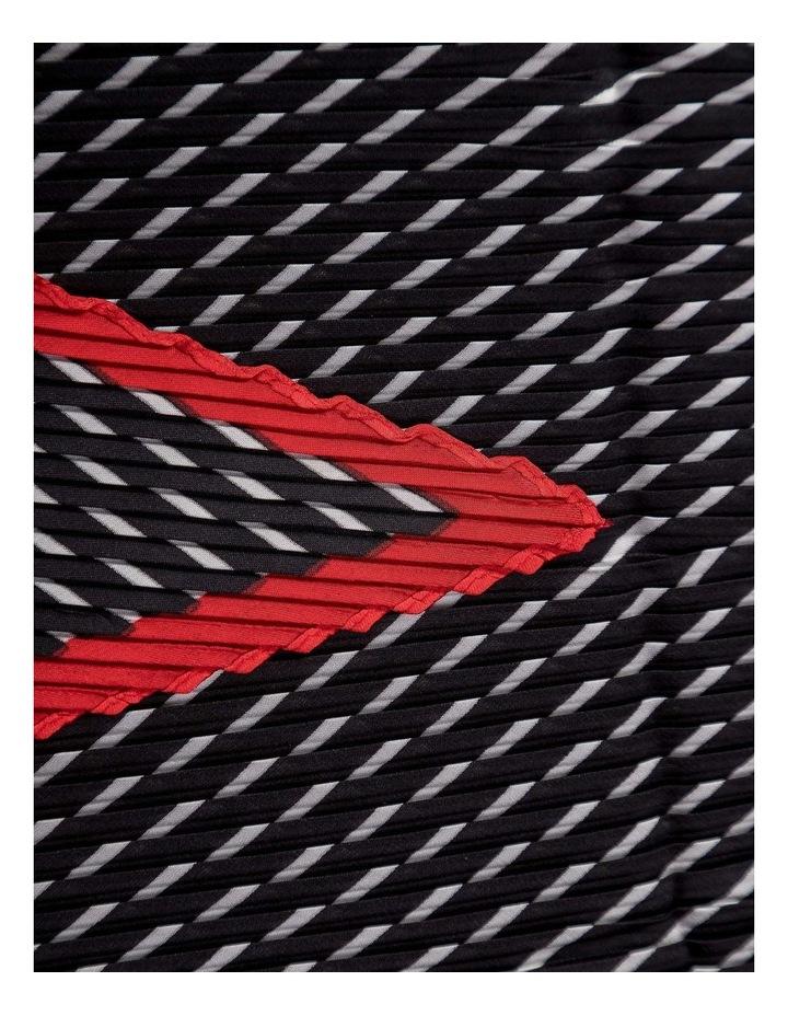GNKR019M Pleated Stripe Neckerchief Scarf image 2