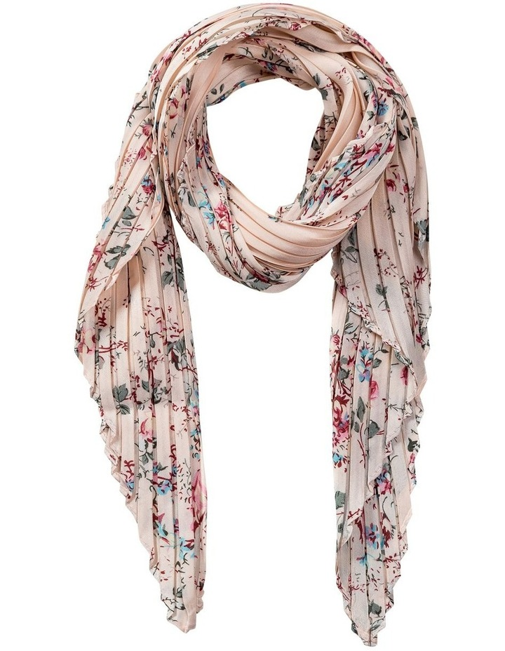 GNKR039M Pleated Floral Neckerchief Scarf image 1