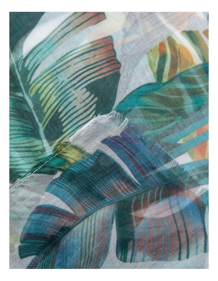 GNKR006M Tropical Leaf Scarf image 2