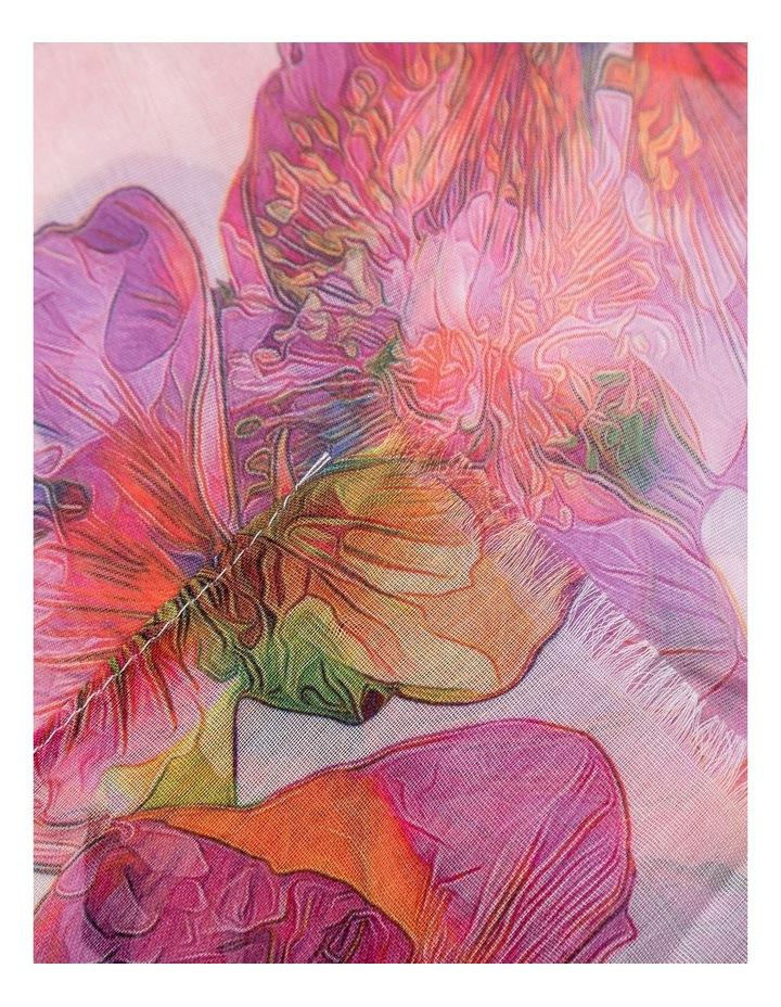 GNKR042M Flower Print Scarf image 2