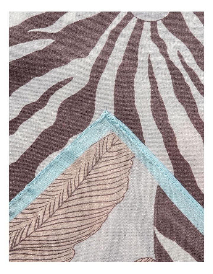 Gnkr043M Pleated Zebra Neckerchief Scarf image 2