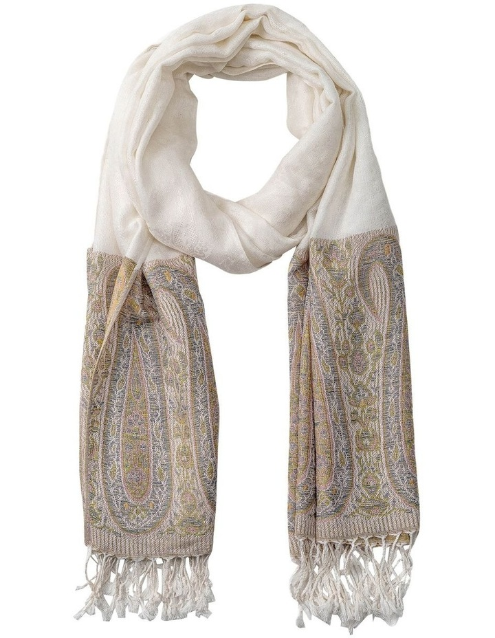 GNKS088M Tapestry White Block Scarf image 1