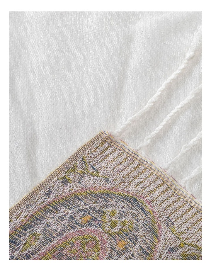 GNKS088M Tapestry White Block Scarf image 2