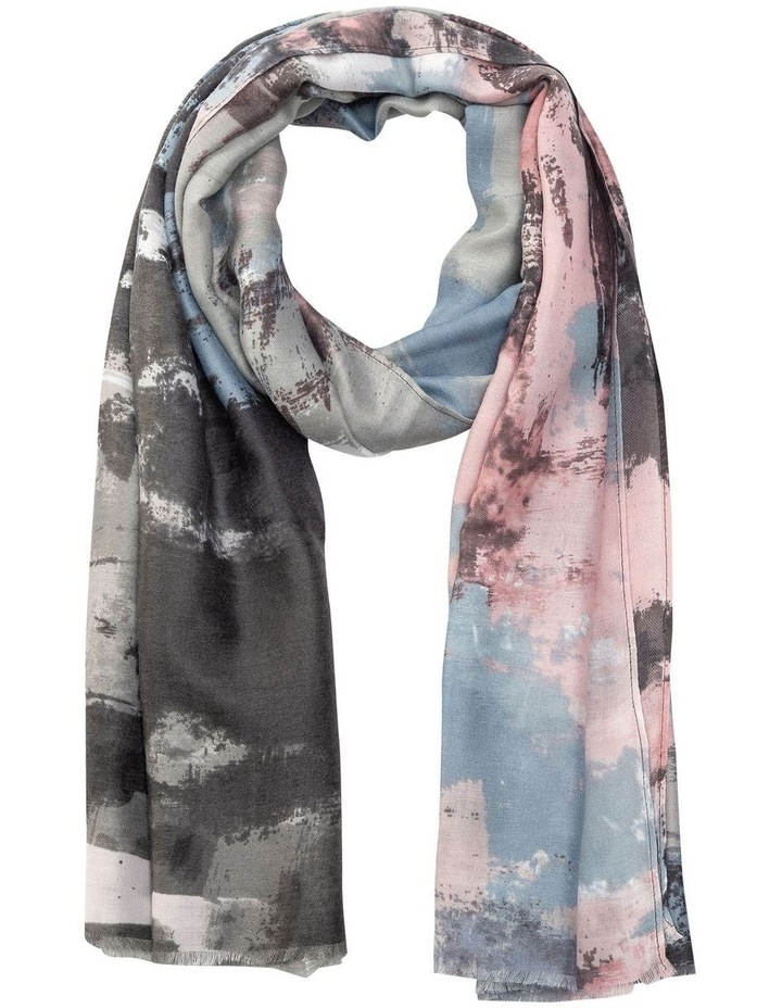 Gnks022M Blue/Pink Abstract Scarf Scarf image 1