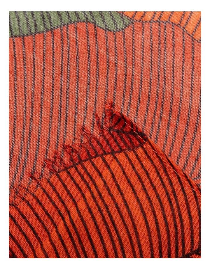 GNKS047M Large Leaf Print Scarf image 2