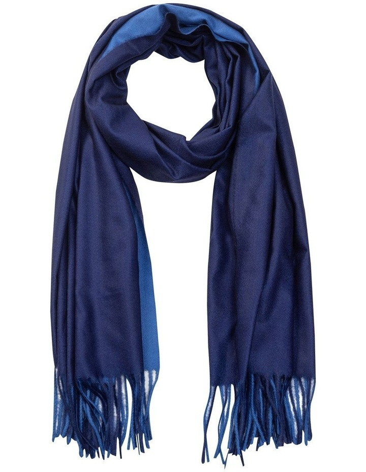 GNKS091M Double Sided Blue Scarf image 1