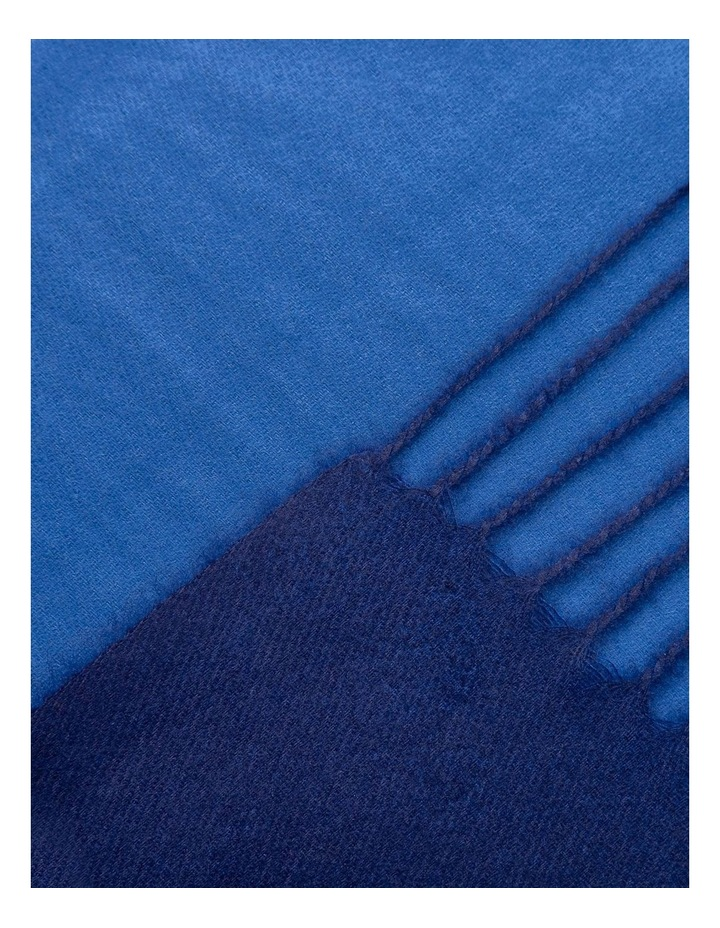 GNKS091M Double Sided Blue Scarf image 2