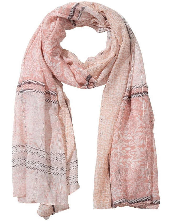 Paisley Print Pink Scarf With Sequins image 1