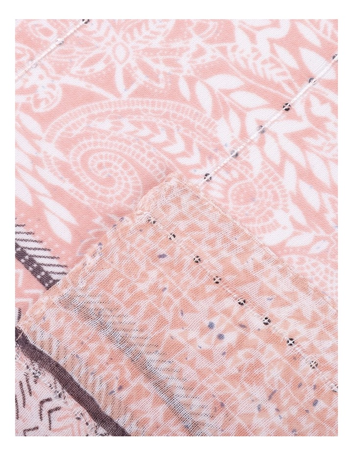 Paisley Print Pink Scarf With Sequins image 2