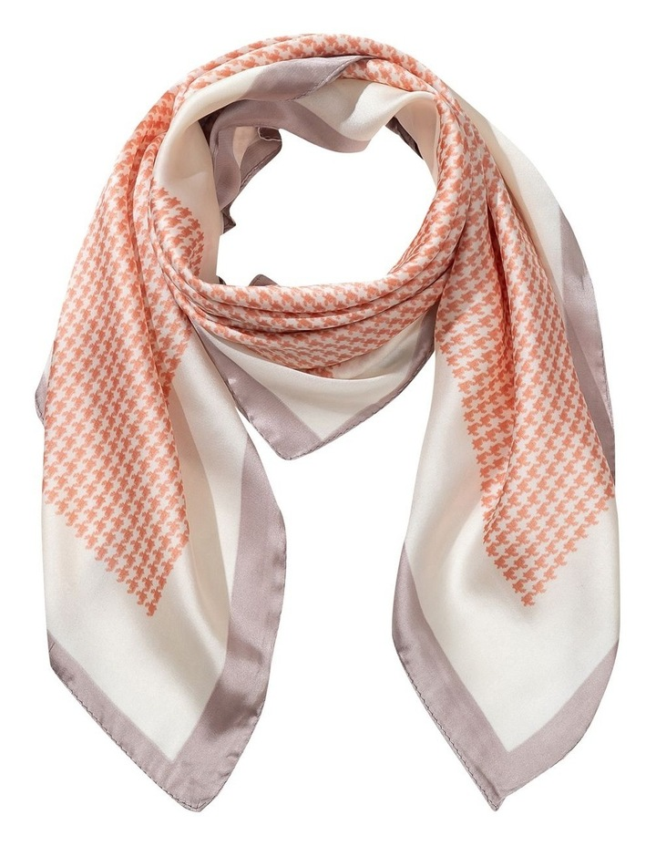 Hounds Tooth Print Neckerchief Scarf image 1