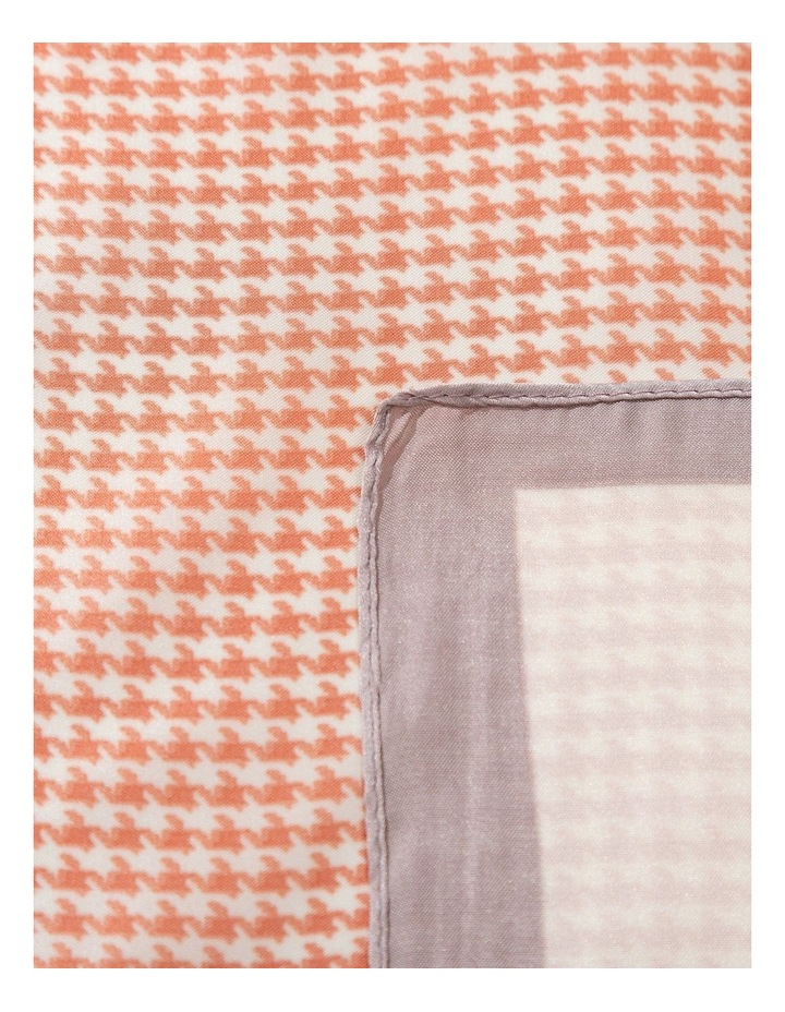 Hounds Tooth Print Neckerchief Scarf image 2